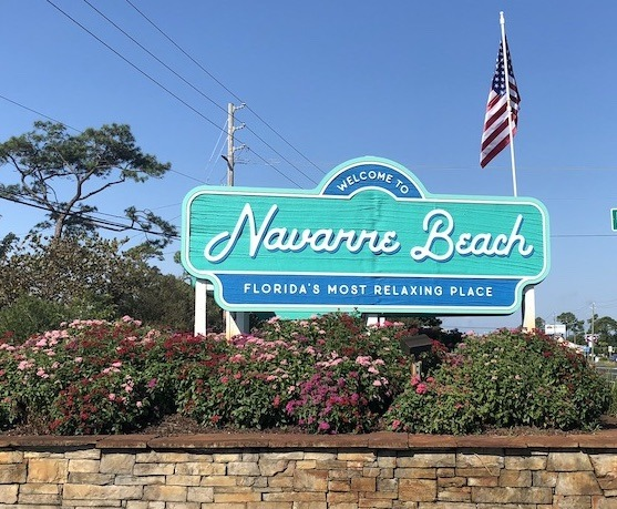 sign for Navarre Beach Florida