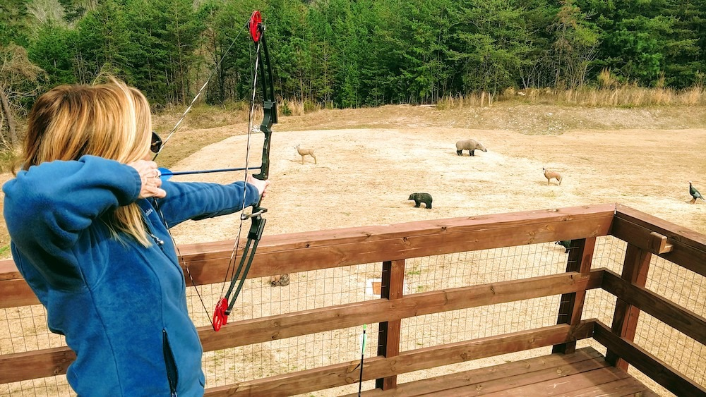 Jan Schroder at Unicoi State Park Archery and Gun Range