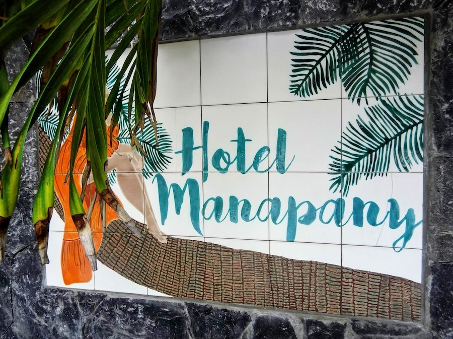 sign for Hotel Manapany