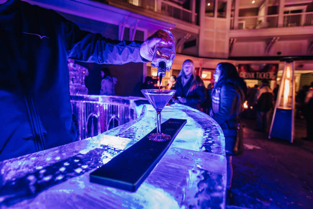 ice bar at Portland Harbor Hotel