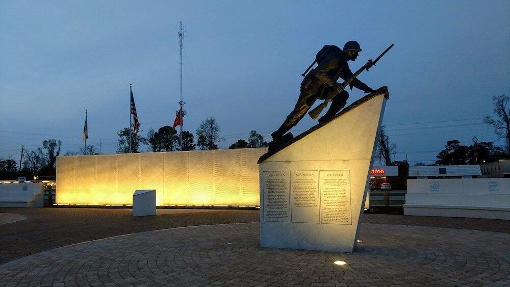 Montford Point Memorial at Lejeune Memorial Gardens