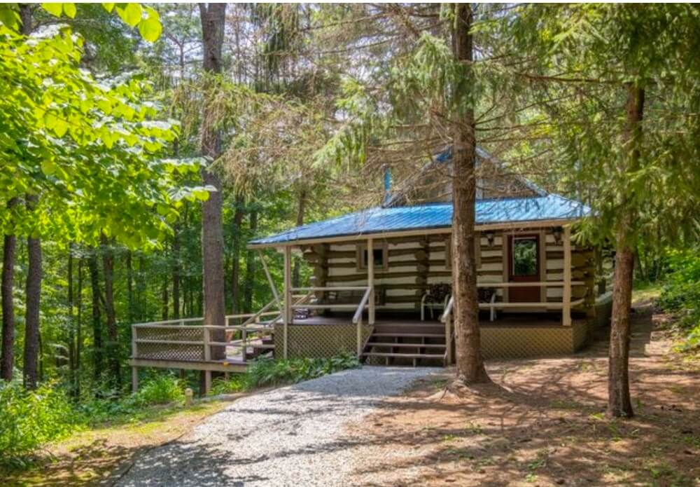 Waterfall cabin rented by Buffalo Lodging Company