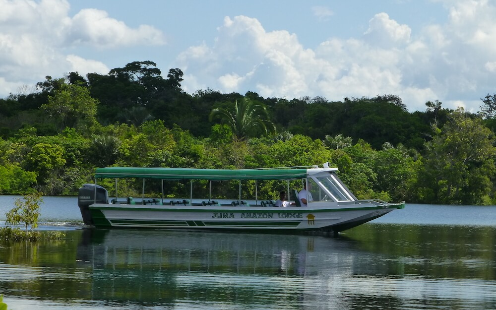 Guest boat at Juma Amazon Lodge