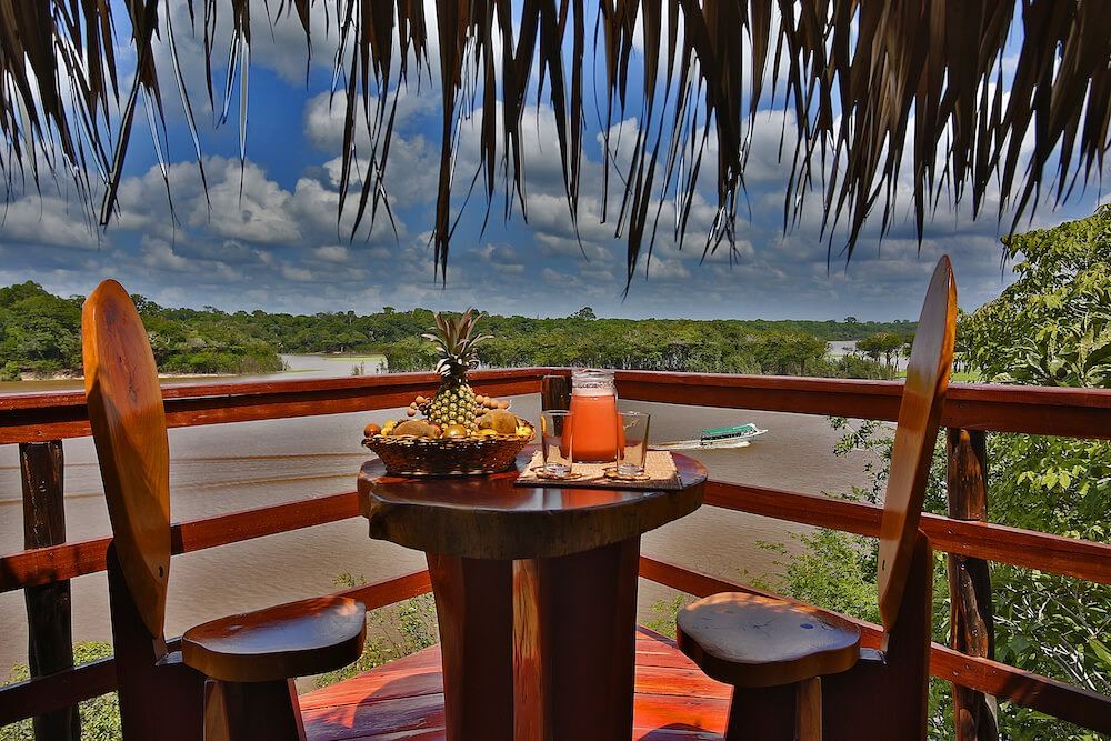 a view from the deck of a bungalow at Juma Amazon Lodge