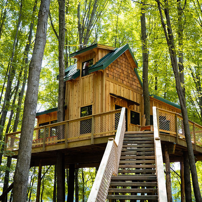 One of the treehouses at Cannaley Treehouse Village
