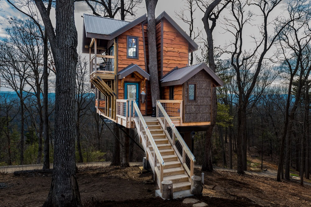 Sanctuary treehouse, one of the Treehouses of Serenity
