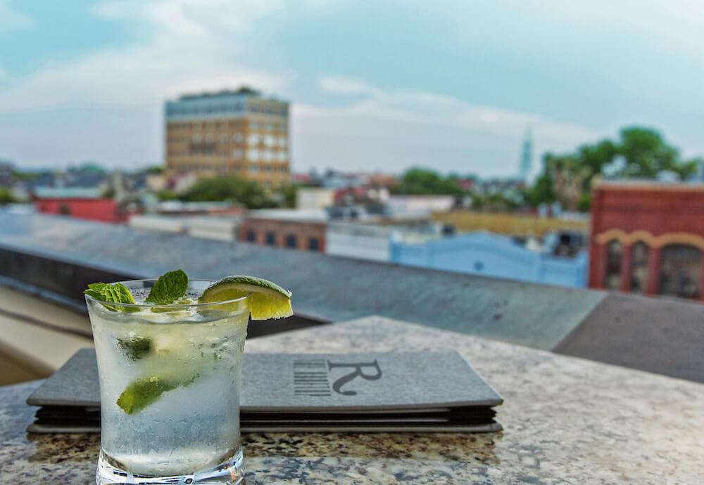 rooftop bar in Charleston