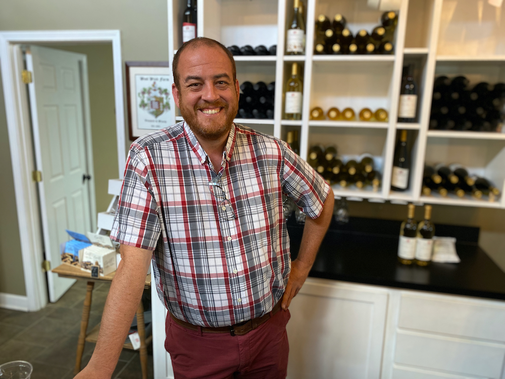 Jason Manley, general manager of West Wind Winery Farm & Vineyard.